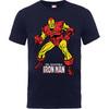 Iron Man Pose Boys Navy T-Shirt (9 -11 Years)