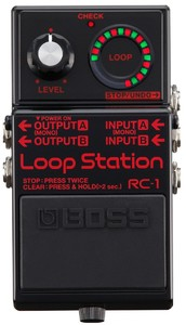 Boss RC-1 Loop Station Effects Pedal (Black) - Cover