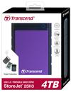 Transcend - StoreJet 25H3 2.5 inch 4TB USB 3.0 External Hard Drive - Purple