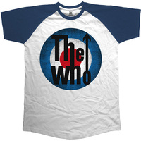 The Who  Vintage Target Short Sleeve Raglan Mens Navy & White T-Shirt (X-Large) - Cover