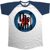 The Who  Vintage Target Short Sleeve Raglan Mens Navy & White T-Shirt (Small)