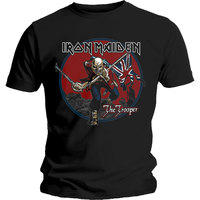 Iron Maiden Trooper Red Sky Mens Black T-Shirt (XX-Large) - Cover