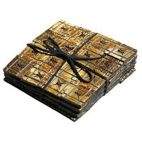 Adesso - Small Horn Tile Coasters (Set of 4)