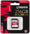 Kingston Technology - SD Canvas React 256GB SDXC UHS-I U3 Memory Card