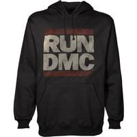 Run DMC Logo Mens Pullover Black Hoodie (Small) - Cover