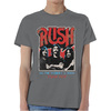 Rush World a Stage Tour 1977 Mens Grey T-Shirt (Small)