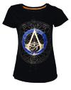 Assassin's Creed Origins - Gold Spaller Logo - Ladies T-Shirt - Black (Medium)