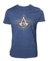 Assassin's Creed Origins - Golden Crest - Mens T-Shirt - Blue (Large)
