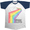 Pink Floyd Prism Arch Short Sleeve Raglan Mens Navy/White T-Shirt (Large)