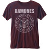 Ramones Presidential Seal Mens Burnout Burgundy T-Shirt (Large)