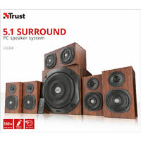 Trust - Vigor 5.1 Surround Speaker System for PC - Brown