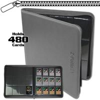 BCW - Z-Folio Trading Card XL Album - 12-pocket (Gray)