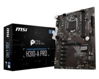 MSI H310-A PRO LGA 1151 (300 Series) Intel H310 HDMI SATA 6Gb/s ATX Intel Motherboard