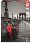 Educa - Red Umbrella, Brooklyn Bridge  Puzzle (1000 Pieces)