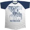 The Beatles Revolver Mens Short Sleeve Raglan Navy/White T-Shirt (Medium)