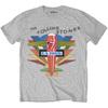 Rolling Stones Retro US Tour 75 Mens Grey T-Shirt (Small)