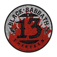 Black Sabbath - 13 / Flames Circular (Patch) - Cover