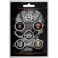 Five Finger Death Punch - Logos (Button Badge Pack) - Cover