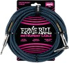 Ernie Ball 25 Foot Braided Instrument Cable (Blue/Black)