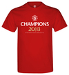 Manchester United - Champions 2013 Mens T-Shirt (Large)