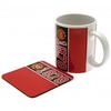 Manchester United Established Mug and Coaster Set Cover