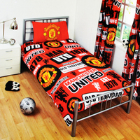 Manchester United - Patch Duvet Set (Single) - Cover