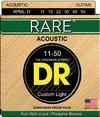 DR RPML-11 Rare Series 11-50 Custom Light Phosphor Bronze Acoustic Guitar Strings
