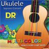 DR UMCSC Multi-Color Soprano or Concert Nylon Ukulele Strings