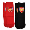 Arsenal - Club Crest Red And Black Socks (Size 4-6.5)