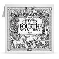 Ernie Ball 1534 Silver 4th Nylon Classical Guitar Single String