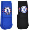 Chelsea - Blue And Black Socks (12.5-3.5) (Pack of 2)