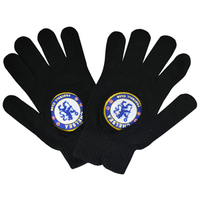 Chelsea - Big Crest Knitted Gloves - Black - Cover