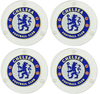 Chelsea - Round Glass Coasters (Pack of 4)