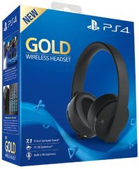 Sony PlayStation Gold 7.1 Wireless Headset - Black (PS4/PC/Mac/PSVR) - Cover