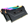 Corsair Vengeance RGB Pro - Black heatsink 16GB (8GB x 2 kit)  DDR4-3000 CL15 1.35v - 288pin Memory Module (Dynamic Multi-Zone RGB with 10 LEDs per module)