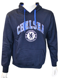 Chelsea - Navy Crest Mens Hoody (Large) - Cover