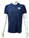 Chelsea - Navy Panel Mens T-Shirt (Large)