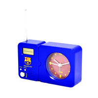 Barcelona - Club Crest Radio With Clock - Cover