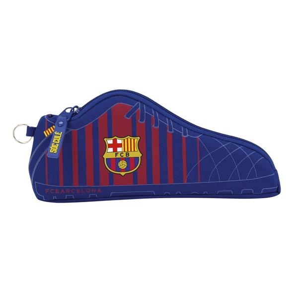 FC Barcelona Shoe Shaped Pencil Case School Pouch OFFICIAL