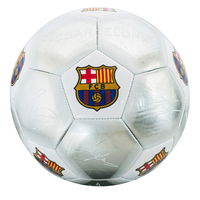 Barcelona - Club Crest & Players Signatures Silver Football (Size 5) - Cover