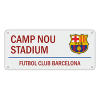 "Barcelona - Club Crest & Text ""CAMP NOU STADIUM"" Colour Street Sign - Cover"