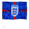 England - Team Crest Blue Lightning Car Flag