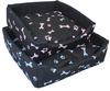 MCP - 600mm Square Dog Bed with Bone Design (Pink Bones)