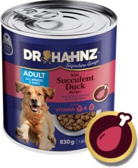 Dr Hahnz - Wet Dog Food Signature Range Can - Duck (830g) - Cover