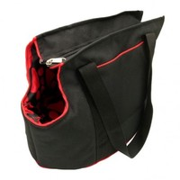 MCP - Small Dog Carrier Bag (Black and Red) - Cover