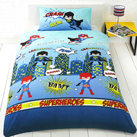 Superheroes Duvet Set (Single) - Cover