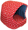 MCP - Small Igloo Cat Bed with Cushion (Red and White)