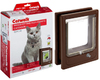 MCP - Medium Wood Fitting Multi-Magnetic Cat Door (Brown and Clear)