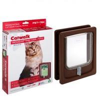 Pet-Tek - Medium Wood Fitting Cat Tunnel (Brown)
