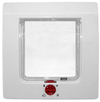 MCP - 4-Way Lockable Cat Flap (White and Clear)